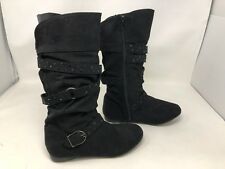 New! Girl's Youth Canyon River Blues Slouch Boots Black 66390 Patrica 70W
