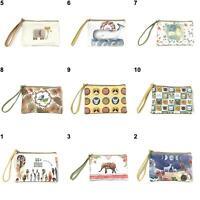WOMEN MINI CUTE ELEPHANT ELK WHALE CAT PRINTED HANDBAG COIN PURSE PHONE BAG COZY
