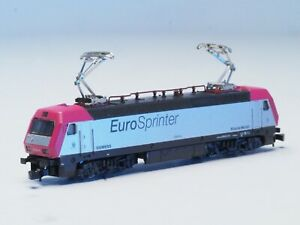 8837 Z-scale Marklin electric locomotive EUROSPRINTER, LED Red/White, front/back
