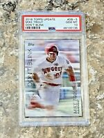 2018 Topps Update Don't Blind Mike Trout #DB-5 PSA 10 MINT Los Angeles Angels