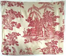 Beautiful 19th C. French Scenic Toile Fabric (3101)