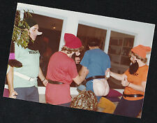 Vintage Photograph Group of Adults Wearing Crazy Halloween Costumes 1981