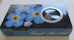 Forget Me Not Pearl- Necklace & Pendant- flower genuine pearl in oyster- pretty
