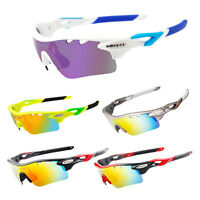 Fashion Bicycle Cycling Outdoor Sports UV400 Sunglasses Eyewear Goggles 5 Lens