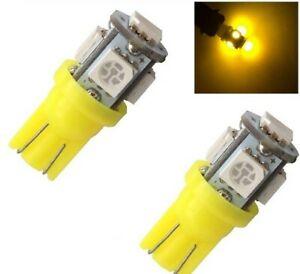Ampoule W5W LED T10 Orange Veilleuse 5 smd pour voiture repetiteurs plafonnier