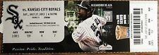 July 27th, 2013 Chicago White Sox vs Royals Ticket Stub - Alejandro De Aza