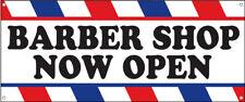 Barber Shop Now Open Vinyl Banner Sign Wb Multi Sizes