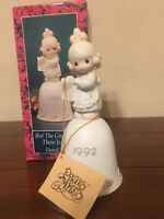 Precious Moments Enesco But The Greatest of These Is Love Bell 1992 NEW In Box