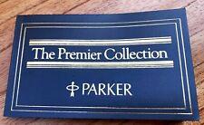 """Original Parker """"The Premier Collection"""" Booklet (#CM x5616)"""