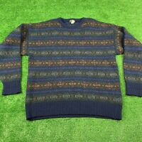 Vintage Brooks Brothers Hand Knit Wool Sweater Sz XL Made in Scotland