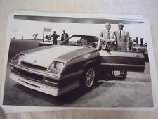 DODGE SHELBY CHARGER  CARROLL SHELBY  LEE IACOCCA  11 X 17  PHOTO  PICTURE