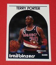 #105 TERRY PORTER TRAILBLAZERS PORTLAND 1989 NBA HOOPS BASKETBALL CARD