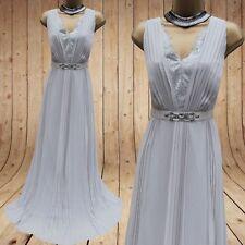 Glamorous Monsoon Isobella Embellished Maxi Long Wedding Bridesmaid Dress 14 UK