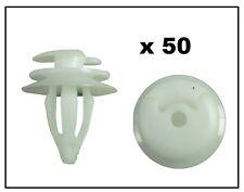 50 X Pannello Porta in Plastica Bianca stampaggio clip per adattarsi BMW & FORD TRIMS