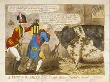 PAINTING DRAWING SATIRE KING PIG IRISH UK NEW FINE ART PRINT POSTER CC3582