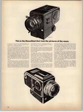 Hasselblad 500 El Camera Space - Earth - NASA - Moon 1969 Print Ad