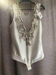 Fantastic  La Perla Maison   Lace  Bodysuit white ivory 3 M  984$