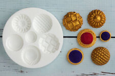 Silicone Mould, Buttons, Brooch,Brooches Decorative,  Ellam Sugarcraft  M003