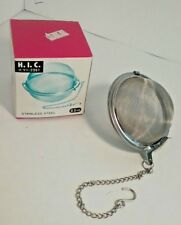 "H.I.C. Lg Ball Shape Loose Leaf Stainless Steel Mesh Tea Infuser 2.5""(6.5cm) NIB"
