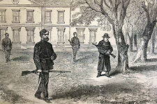 Ireland IRISH LANDLORD Protected by Policemen 1870 Engraving Art Print Matted