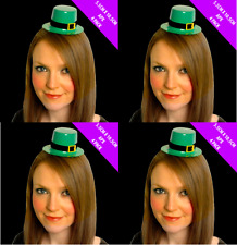 Pack 48 X St Patricks Day Leprechaun Mini Top Hat Irish Fancy Dress Costume 0044