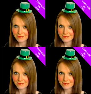 Pack 6 x St Patricks Day Leprechaun Mini Top Hat Irish Fancy Dress Costume 0044