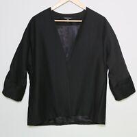 EILEEN FISHER - Black Open Front Blazer Style Jacket - Women's Size Small 🔥