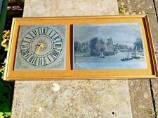 Vintage 1960's Quartz Wall Clock with Steel Maidstone kent Bridge Etching