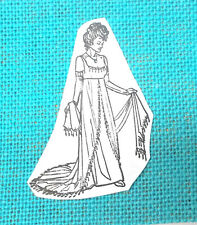 RARE FASHION LADY rubber stamp CORONADO ISLAND RUBBER STAMP UNMOUNTED WOMAN ART