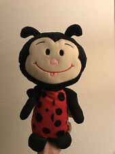 """New 12"""" Plush Stuffed Lady Bug Toy Factory Black and Red"""