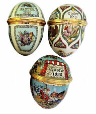 Halcyon Days Enamels Easter Eggs Dated 1990, 1995, 1998
