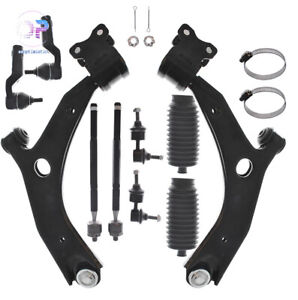 12pc Front Lower Suspension Control Arm Tierod Sway Bar Kit For Mazda 3 Mazda 5