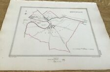 Antique Map Huntingdon Showing Boundary Of Borough By S Lewis C 1835 Walker