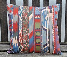 "NEW 16"" reversible cotton cushion Liberty Collier Campbell 'Zebak', multi"
