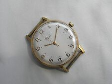 RARE POLJOT UNUSUAL INDEX DIAL RUSSIAN SOVIET WATCH  GOLD-PLATED CASE EXPORT