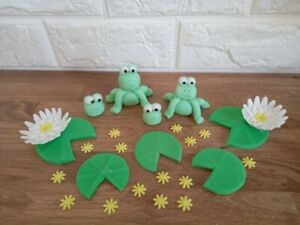 Edible frog cake topper decorations