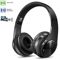 Wireless Bluetooth Headset Foldable Headphones HI-FI Stereo Over Ear And  Mic US