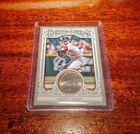 CLAY BUCHHOLZ SP /5 RELIC QUARTER CURRENCY 2013 TOPPS GYPSY QUEEN RED SOX!