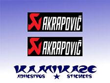 ADHESIVO PEGATINA STICKER AUTOCOLLANT ADESIVI AUFKLEBER DECAL X2 AKRAPOVIC