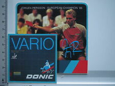 Aufkleber Sticker Donic - Schildkröt - Tischtennis - Sportartikel - Persson (S12