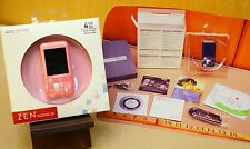 Zen Moziac 4gb Oled Classic Syle Music Player rare Pink color Nos Sealed