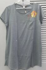 Victoria's Secret Floral Graphic Sleepshirt Grey Size Small