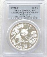 1992 China Panda 10 Yuan Silver Proof 1oz Coin PCGS PR69 DCAM