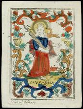 santino incisione 1600/1700 S.SUSANNA  m.cabbaye
