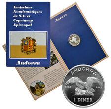 ANDORRA 1 Diner 1990 Silver BU 'Golden Eagle' Mint Pack