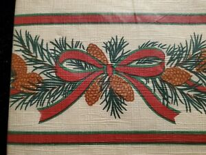 """HALLMARK CHRISTMAS TABLE COVER PAPER TABLECLOTH 54"""" x 102"""" NEW Holiday table"""