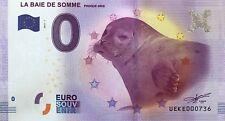 BILLET 0 ZERO EURO SOUVENIR  TOURISTIQUE  LA  BAIE DE SOMME 2017-1