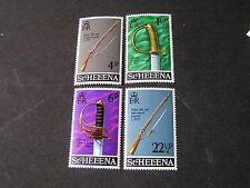 ST. HELENA, SCOTT # 263-266(4), COMPLETE SET 1971 MILITARY TYPE ISSUE MNH