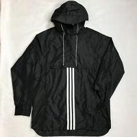 Adidas Sport ID Training Anorak Hooded Pullover Jacket Black SZ M Men's  NWT
