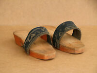 Old Antique Primitive Wooden Flat Shoes Slippers Sandals Rustic Farmhouse Ranch